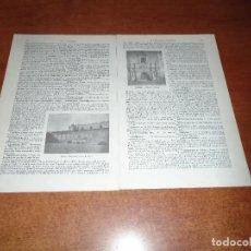 Coleccionismo: LÁMINA LIBRO: MONASTERIO MEJICANO DE ACOLMAN. Lote 145179894