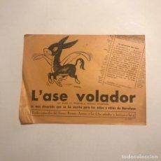 Coleccionismo: TEATRO ROMEA. PROGRAMA DE MANO. L'ASE VOLADOR. Lote 145207182