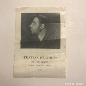 Teatro Studium. Programa de mano. Dia de reyes. 1943