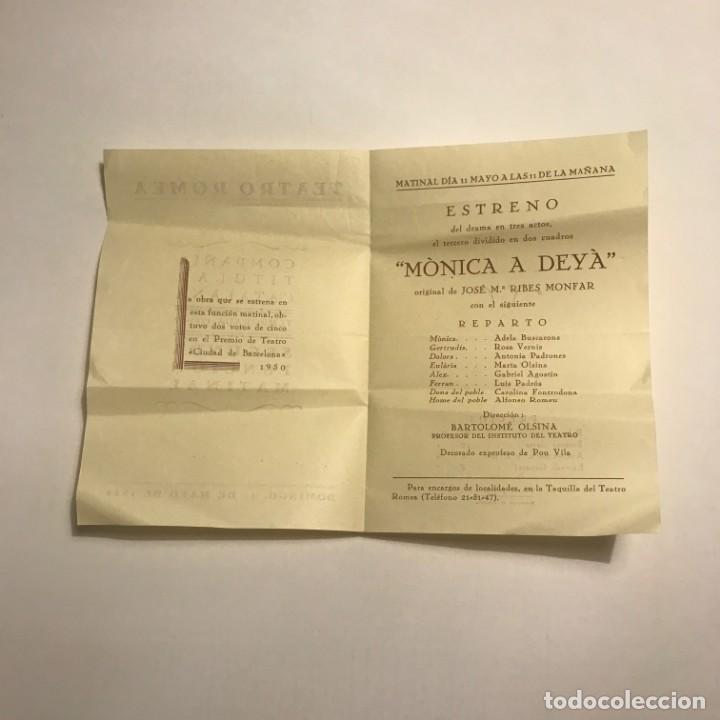 Coleccionismo: Teatro Romea. Programa de mano. Compañía titular catalana. Temporada 1951 1952 - Foto 2 - 145207386