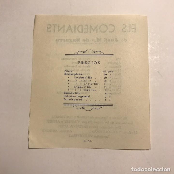 Coleccionismo: Teatro Romea. Programa de mano. Els Comediants. 1950 - Foto 3 - 145207998