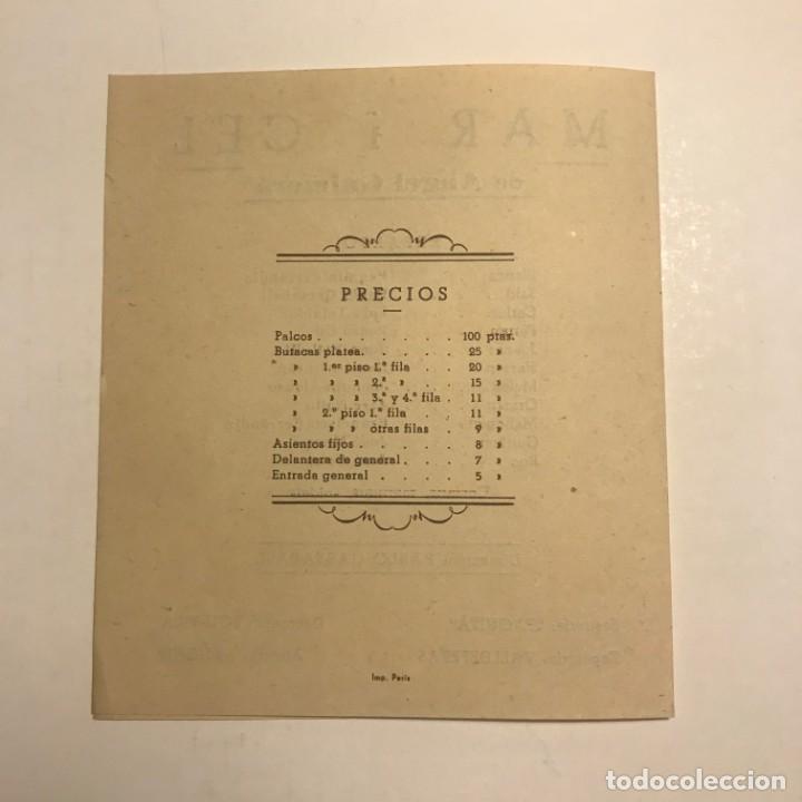 Coleccionismo: Teatro Romea. Programa de mano. Mar i Cel. 1950 - Foto 3 - 145208042