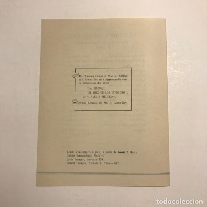 Coleccionismo: Teatro Romea. Programa de mano. Licée Français de Barcellone Collège International. 1950 - Foto 3 - 145208234