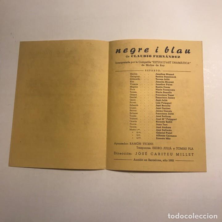 Coleccionismo: Teatro Romea. Programa de mano. Negre i blau. 1950 - Foto 2 - 145208286