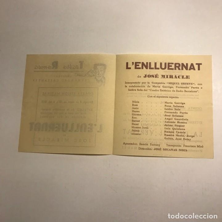 Coleccionismo: Teatro Romea. Programa de mano. Lenlluernat. 1950 - Foto 2 - 145208342