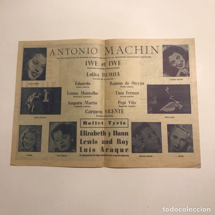 Coleccionismo: Teatro Romea. Programa de mano. Antonio Machin - Foto 2 - 145210110