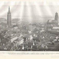 Coleccionismo: LAMINA GEOGRAFIA 0315: VISTA DE BRUJAS BELGICA. Lote 145233568