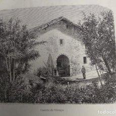 Coleccionismo: GRABADO. CASERIO DE VIZCAYA. VIAJE POR ESPAÑA. 1878. Lote 145255514