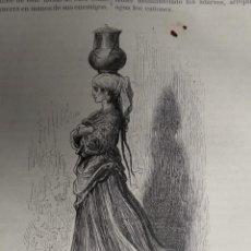 Coleccionismo: GRABADO. ALDEANA VIZCAINA. VIAJE POR ESPAÑA. 1878. Lote 145256602