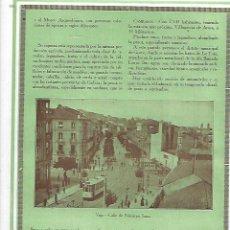 Coleccionismo: AÑO 1927 RECORTE PRENSA FOTOGRAFIA VIGO CALLE DE POLICARPO SANZ TRANVIA. Lote 145265882