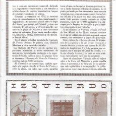 Coleccionismo: AÑO 1927 PUBLICIDAD IZQUIERDO MUEBLES ARTISTICOS APARATOS ALUMBRADO ELECTRICO VALENCIA. Lote 145545542