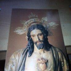 Coleccionismo: ANTIGUA LAMINA DE CORAZON DE JEUS DE 24X18 CENTIMETROS CARTULINA. Lote 145627142
