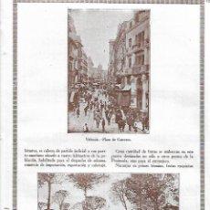 Coleccionismo: AÑO 1927 RECORTE PRENSA FOTOGRAFIA VALENCIA PLAZA DE CARREROS TORRENTE EL VEDAT TORRENT. Lote 145656366