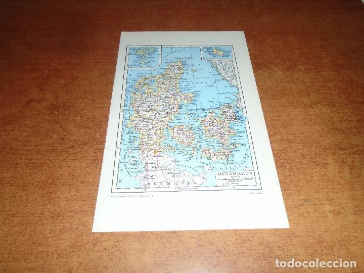 LÁMINA ESPASA: MAPA DE DINAMARCA (Coleccionismo - Laminas, Programas y Otros Documentos)