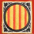 Coleccionismo: PARCHE DE TELA BORDADO ESCUDO GENERALITAT DE CATALUNYA 6,5X6CM. Lote 145781958