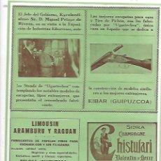 Coleccionismo: AÑO 1927 PUBLICIDAD SIDRA CHISTULARI VALENTIN MERCE CESTAS JUNCO HIJOS MADINA OÑATE VILLAVELLA EIBAR. Lote 146033210