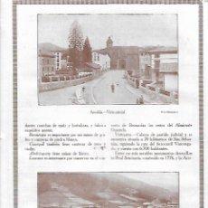 Coleccionismo: AÑO 1927 RECORTE PRENSA FOTOGRAFIA VISTA PARCIAL AZPEITIA Y EIBAR. Lote 146033922