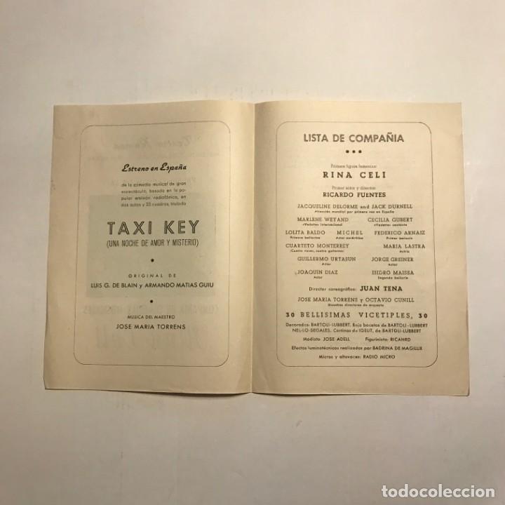 Coleccionismo: Teatro Romea. Programa de mano. Rina Celi. 1950 - Foto 2 - 146363658