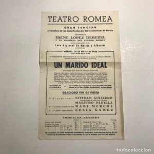 Teatro Romea. Programa de mano. Un marido ideal