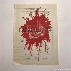 Teatro Romea. Programa de mano. Paral·lel 1934