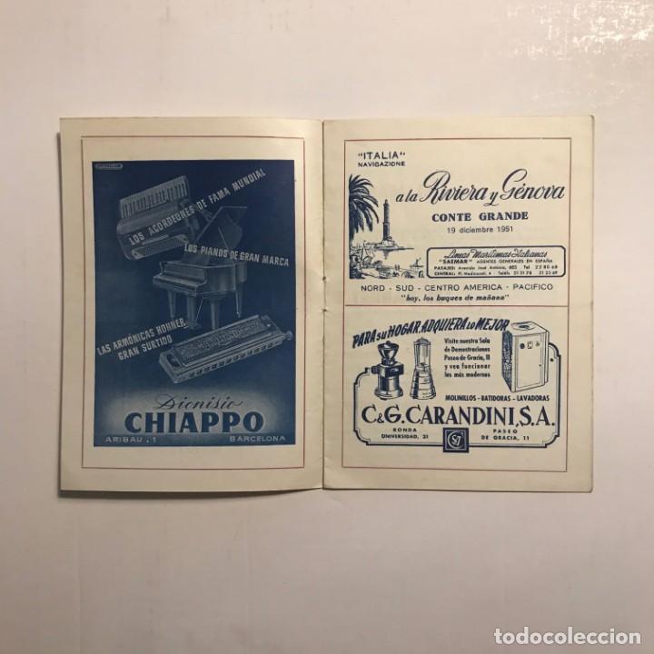 Coleccionismo: Teatro Romea. Programa de mano. Catena della fraternita, 1951 - Foto 2 - 146495522