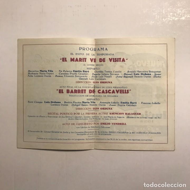 Coleccionismo: Teatro Romea. Programa de mano. Catena della fraternita, 1951 - Foto 3 - 146495522