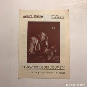 Teatro Romea. Programa de mano. Theatre Louis Jouvet