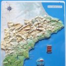 Coleccionismo: ALICANTE, MAPA EN CHAPA Y PUZZLE CON IMANES, COMPLETO, AÑO 1999, MEDIDAS 62,5 X 42 CM. Lote 146545658