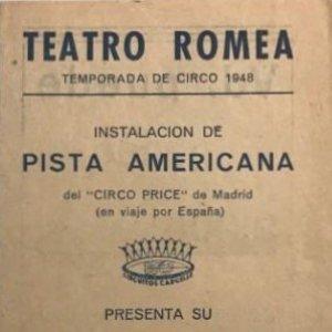Teatro Romea. Programa de mano. Circo Price. Temporada de Circo 1948