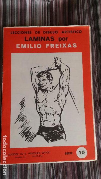 E. FREIXAS LÁMINAS LECCIONES DE DIBUJO ARTÍSTICO SERIE 10 COMPLETA (Coleccionismo - Laminas, Programas y Otros Documentos)