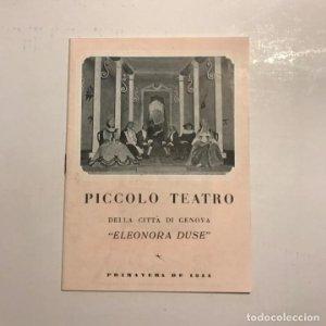 Teatro Romea. Piccolo teatro. Eleonora Duse
