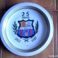 Coleccionismo: PLATO DE LA PEÑA BARCELONISTA OLESA 1962,1987 MIDE 29X29 DE CERAMICA. Lote 146714762