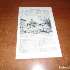 Coleccionismo - LÁMINA DE LIBRO ANTIGUO: CALATAYUD, IGLESIA DE SAN ANDRÉS Y FABRICANTES DE CUERDAS - TERUEL - 146807174