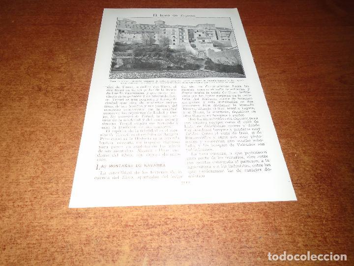 Coleccionismo: LÁMINA DE LIBRO ANTIGUO: CALATAYUD, IGLESIA DE SAN ANDRÉS Y FABRICANTES DE CUERDAS - TERUEL - Foto 3 - 146807174