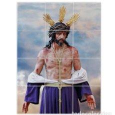 Coleccionismo: RETABLO DE 12 AZULEJOS 15X15 CTM DE NTRO. PADRE JESÚS DEL AMOR DESPOJADO DE SUS VESTIDURAS DE CÁDIZ. Lote 147016986