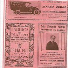 Coleccionismo: AÑO 1927 PUBLICIDAD ENRIQUETA ALVAREZ PARTOS COMADRONA AYUDANTE DOCTOR CAJAL ZARAGOZA. Lote 147093962