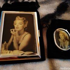 Coleccionismo: ENCENDEDOR Y PITILLERA MARILYN MONROE FOTO SAM SHAW. Lote 147313161