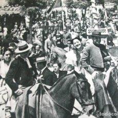 Coleccionismo: SEVILLA LA FERIA DE ABRIL ANTIGUA LAMINA HUECOGRABADO AÑOS 40. Lote 147392490