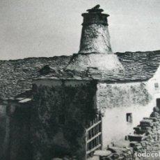 Coleccionismo: JACA HUESCA VIVIENDA ANTIGUA LAMINA HUECOGRABADO AÑOS 40. Lote 147401478