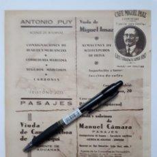 Coleccionismo: PASAJES. HOJA CON PUBLICIDAD. 1934. Lote 147545220
