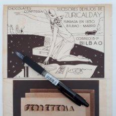 Coleccionismo: BILBAO. HOJA CON PUBLICIDAD. 1934. Lote 147589510