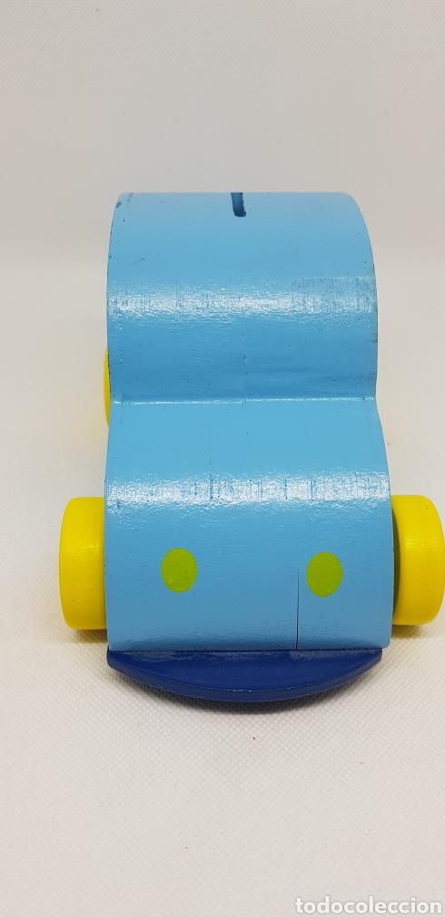Coleccionismo: hucha coche azul - madera - 14 cm - car24 - Foto 2 - 147776418