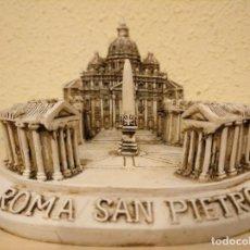 Coleccionismo: PLAZA DE SAN PEDRO REPRODUCCIÓN EN MINIATURA 3D PLAZA SAN PIETRO ROMA VATICANO PRECIOSA REPRODUCCIÓN. Lote 147909834