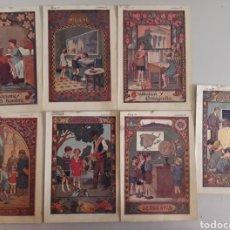 Coleccionismo: LOTE DE 7 ANTIGUAS LÁMINAS DE COLEGIO.. Lote 194527847