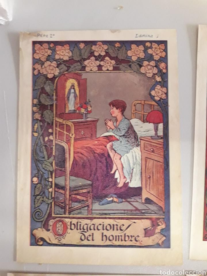 Coleccionismo: LOTE DE 7 ANTIGUAS LÁMINAS DE COLEGIO. - Foto 2 - 194527847