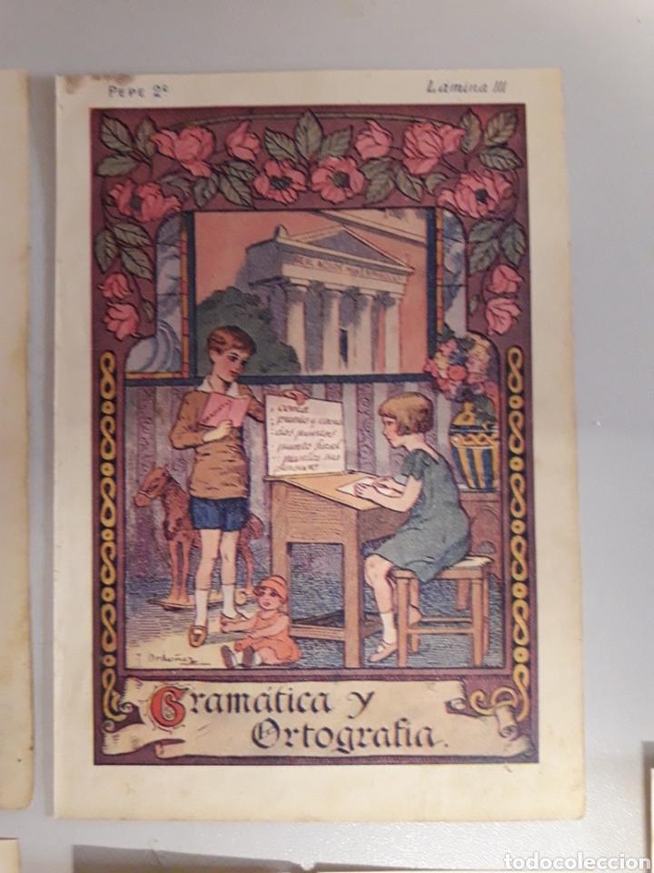 Coleccionismo: LOTE DE 7 ANTIGUAS LÁMINAS DE COLEGIO. - Foto 4 - 194527847