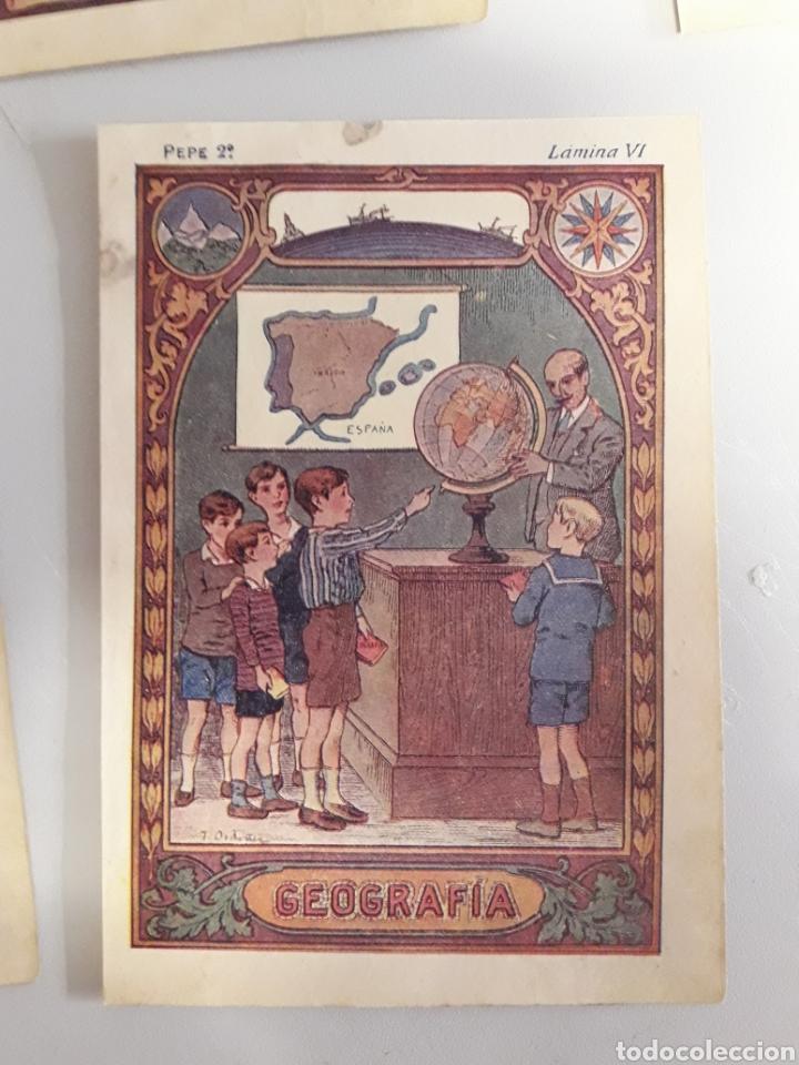 Coleccionismo: LOTE DE 7 ANTIGUAS LÁMINAS DE COLEGIO. - Foto 7 - 194527847
