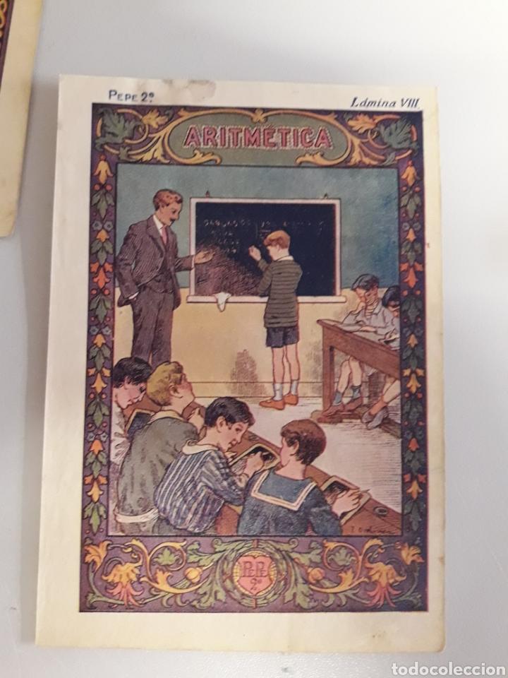 Coleccionismo: LOTE DE 7 ANTIGUAS LÁMINAS DE COLEGIO. - Foto 8 - 194527847
