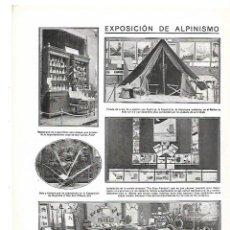 Coleccionismo: AÑO 1912 EXPOSICION ALPINISMO COMESTIBLES CAMPO CARLOS PRAST TIENDA CAMPAÑA SKI TRINEO ESQUIS. Lote 148340674
