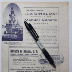 Coleccionismo: BADAJOZ. HOJA CON PUBLICIDAD. 1934. Lote 148679452